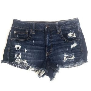American Eagle Distressed Hi-Rise Festival Shorts